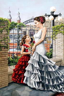 White Flamenco Poster