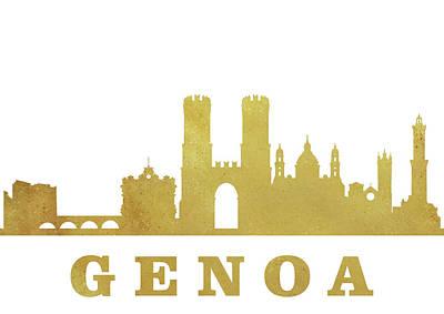 Genoa Skyline-gold Poster