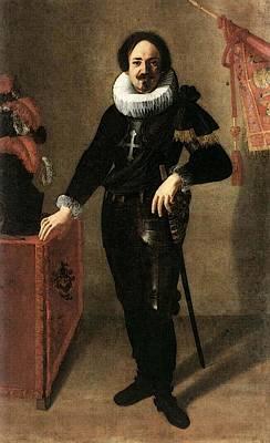 Gentileschi Artemisia Portrait Of A Condottiero Poster