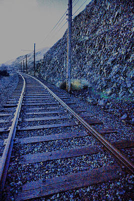 Poster featuring the photograph Gently Winding Tracks by Jeff Swan