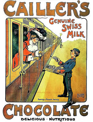 Genuine Swiss Chocolate Poster by Long Shot