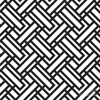 Geometric Black W Poster