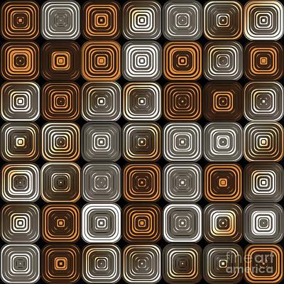 Geometric Chocolate Pattern Poster by Gaspar Avila