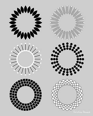 Radial Circles Poster by Christina Steward