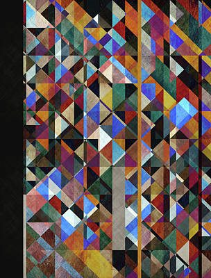 Geometric Crystal Poster by Francisco Valle