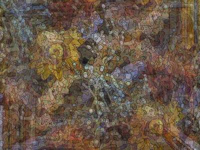 Geometric Garden Poster by Tim Allen