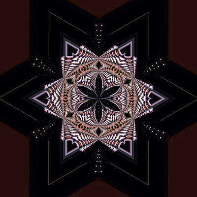 Geometric Kaleidoscope Poster by Laura Mountainspring
