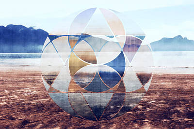 Geometric Landscape Poster by Nannie Van der Wal