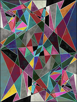 Geometric Madness Poster by Francisco Valle