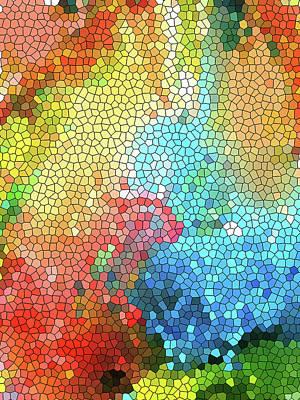 Geometric Organic Colors 1 Poster