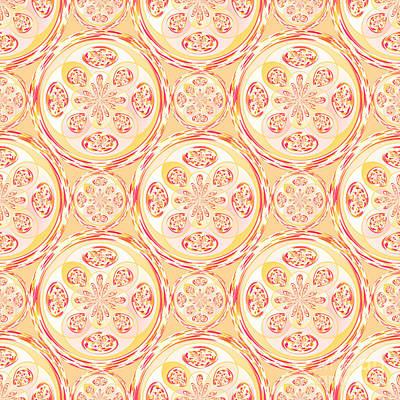 Geometric Pizza Pattern Poster