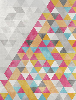 Geometric Power Poster by Francisco Valle