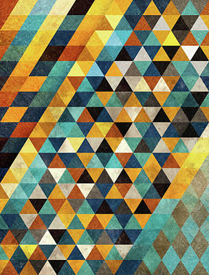 Geometric Sunset Poster