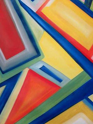 Poster featuring the painting Geometric Tension Series IIi by Patricia Cleasby