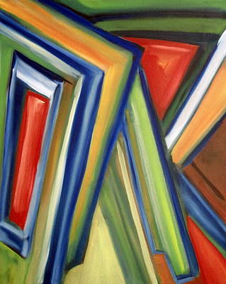 Poster featuring the painting Geometric Tension Series V by Patricia Cleasby