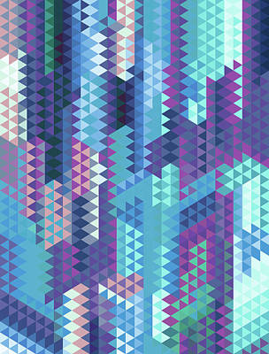 Geometric Triangles Ice Poster by Francisco Valle