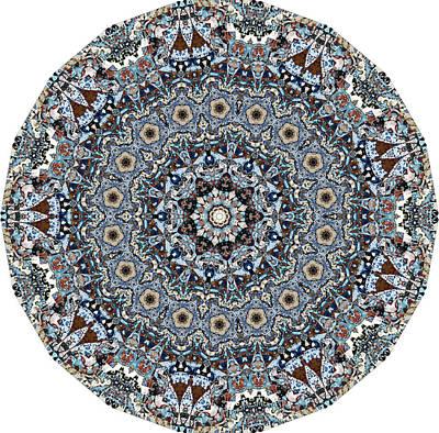 Geometric Tribal Mandala Poster