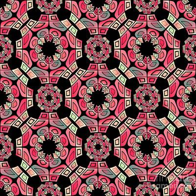 Geometric Tribal Pattern Poster