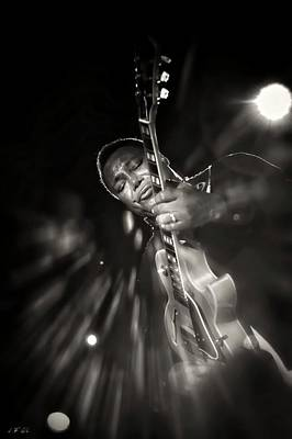 George Benson Black And White Poster