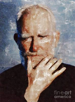George Bernard Shaw By Mary Bassett Poster
