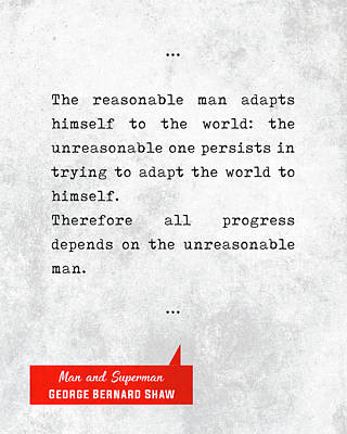 George Bernard Shaw Quotes - Man And Superman - Literary Quotes - Book Lover Gifts - Typewriter Art Poster