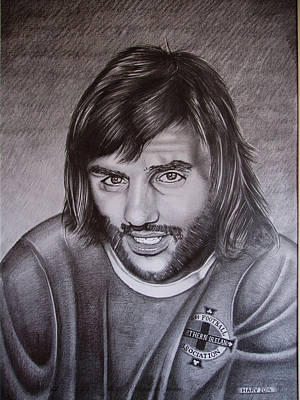 George Best, I Squandered The Rest Poster by Harv Harbinson