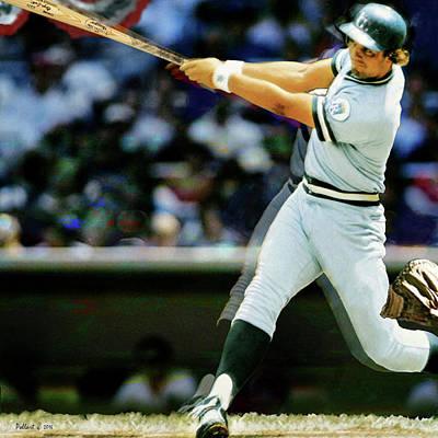 George Brett, - 1985 World Series Poster by Thomas Pollart