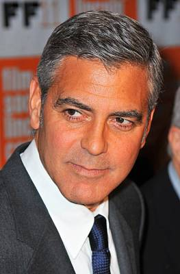 George Clooney At Arrivals For The Poster by Everett