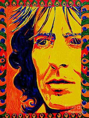 George Harrison Beatles 70's Poster by Margaret Juul