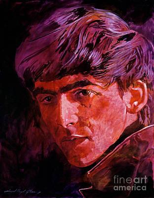 George Harrison Poster by David Lloyd Glover