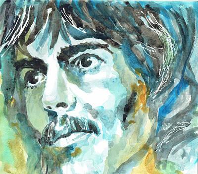 George Harrison Portrait 1 - By Diana Van Poster by Diana Van