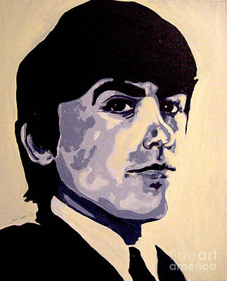 George Harrison Psychedelic Beatles 60's Poster by Margaret Juul