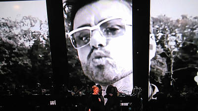 Poster featuring the photograph George Michael Sends A Kiss by Toni Hopper
