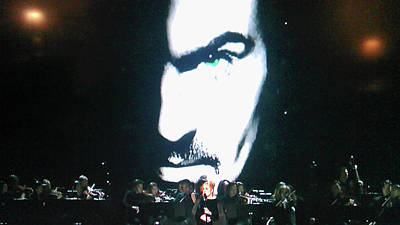 Poster featuring the photograph George Michael's Eye Appeal by Toni Hopper