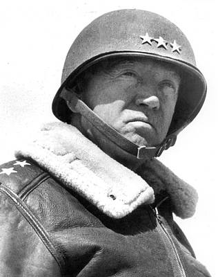 George S. Patton Unknown Date Poster by David Lee Guss