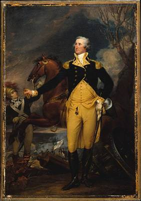 George Washington Before The Battle Poster by John Trumbull