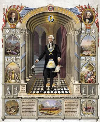 George Washington, Freemason Poster by Science Source