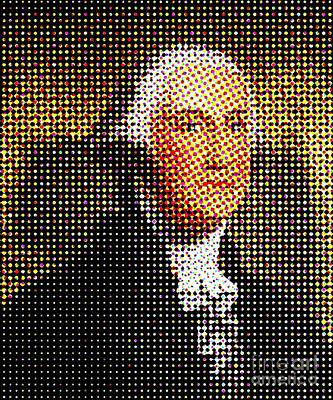 George Washington In Dots  Poster by Paulo Guimaraes
