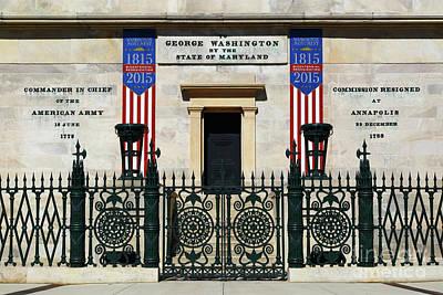 George Washington Monument Military Career Baltimore Poster