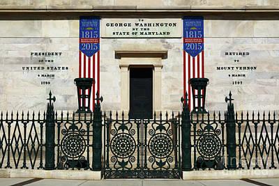 George Washington Monument Presidency Baltimore Poster