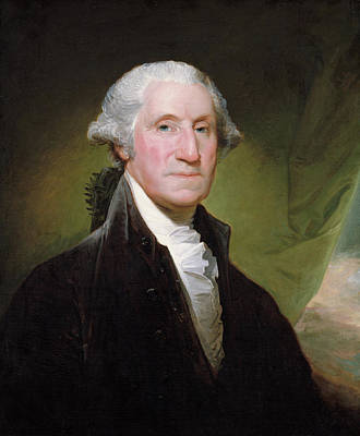 Poster featuring the painting George Washington Portrait by Gilbert Stuart