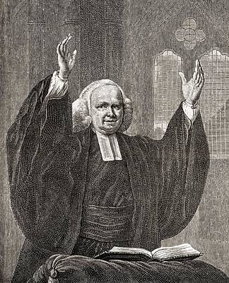 George Whitefield, 1714 To 1770. Church Poster by Vintage Design Pics