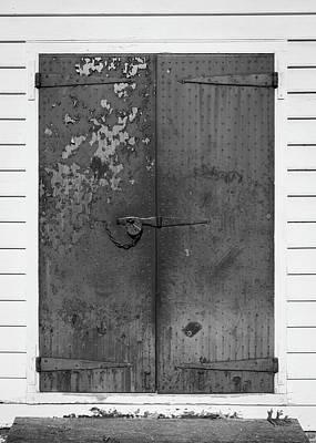 George Wythe Kitchen Door B W Poster by Teresa Mucha
