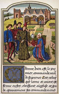 Georges Chastellain Died 1475 Poster