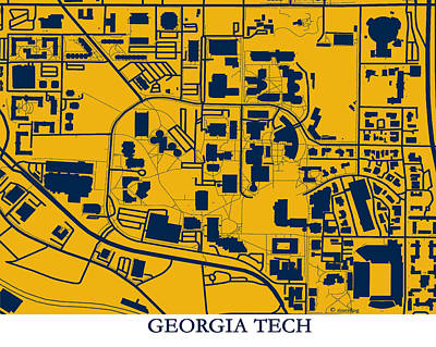 Georgia Tech Campus Poster by Spencer Hall
