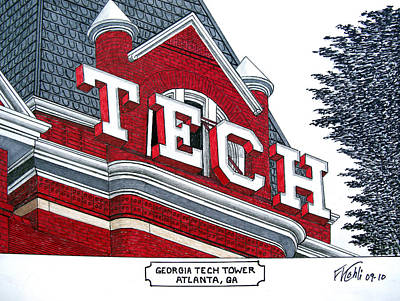 Georgia Tech Tower Poster