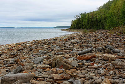 Georgian Bay Rocky Shoreline Poster by Barbara McMahon