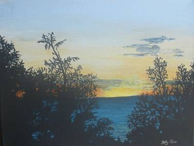 Poster featuring the painting Georgian Bay Sunset by Betty-Anne McDonald