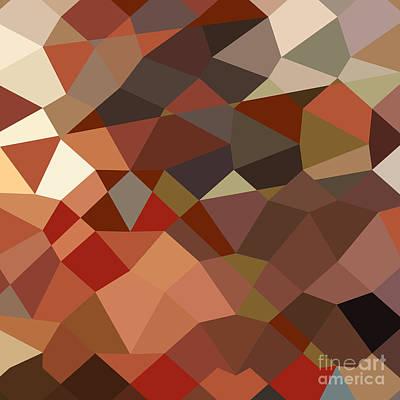 Geranium Red Abstract Low Polygon Background Poster by Aloysius Patrimonio