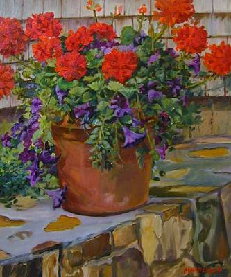 Geraniums Poster by Michael McDougall